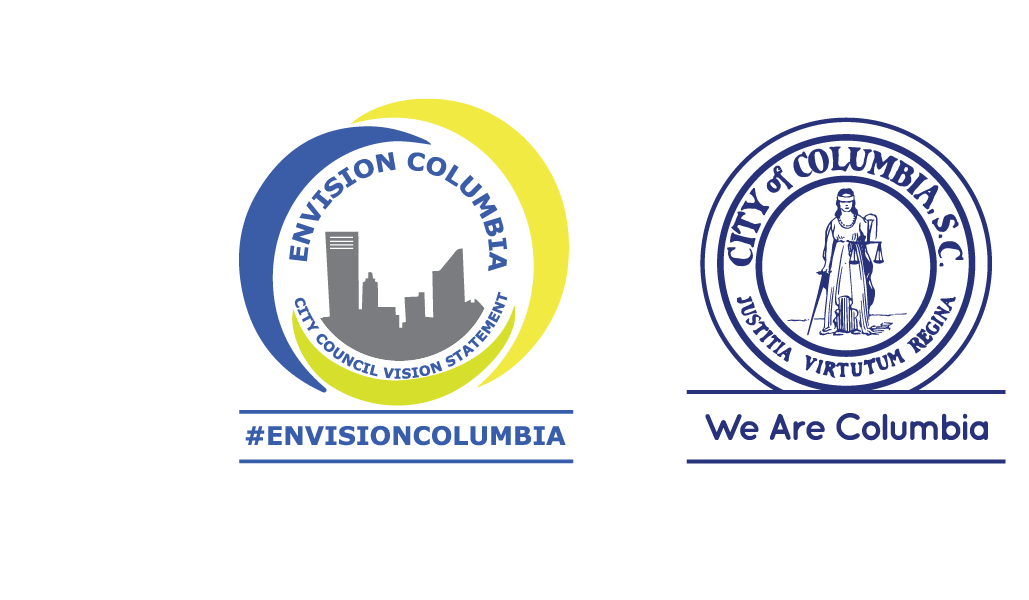 Envision Columbia seal and City of Columbia seal.  The City's Envision Columbia seal, which reads